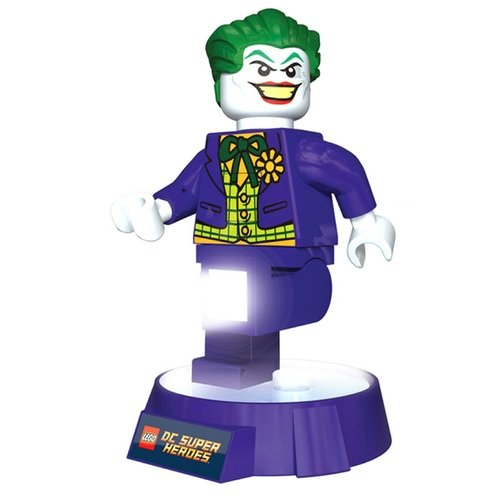 Lego Joker Torch figure, produced by Lego. Front view.
