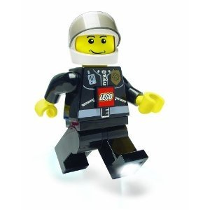 Lego Policeman Torch figure, produced by Lego. Front view.