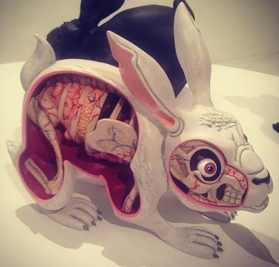 Lepus Pellis Os Omentum - Hand Painted figure by Nychos, produced by Mighty Jaxx. Front view.
