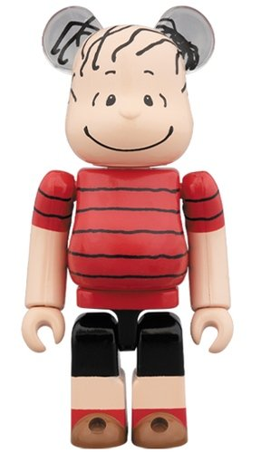 LINUS by WE LOVE PEANUTS! BE@RBRICK 100% figure, produced by Medicom Toy. Front view.