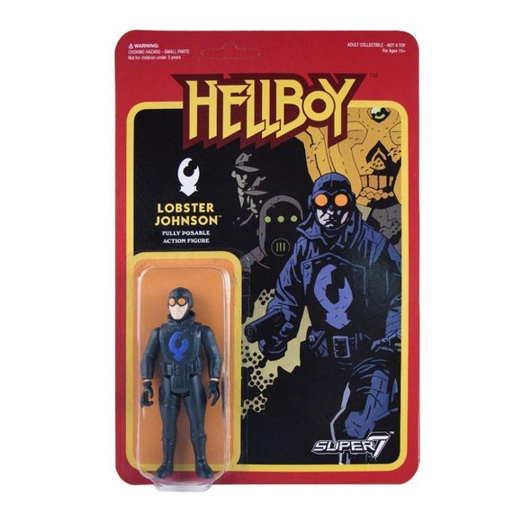 Lobster Johnson figure by Super7, produced by Funko. Packaging.