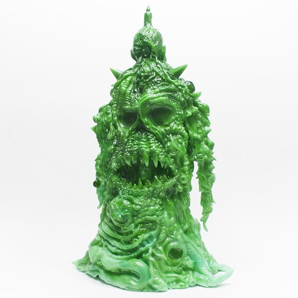 Lolgolth Gnazgoroth - HK Commemorative Jade Edition figure by Skinner, produced by Unbox Industries. Back view.