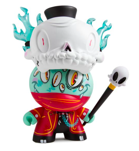 Lord Strange figure by Brandt Peters, produced by Kidrobot. Front view.
