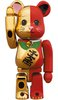 Lucky cat - Gold x red BE@RBRICK 100%