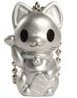 Lucky Cat Keychain - Silver
