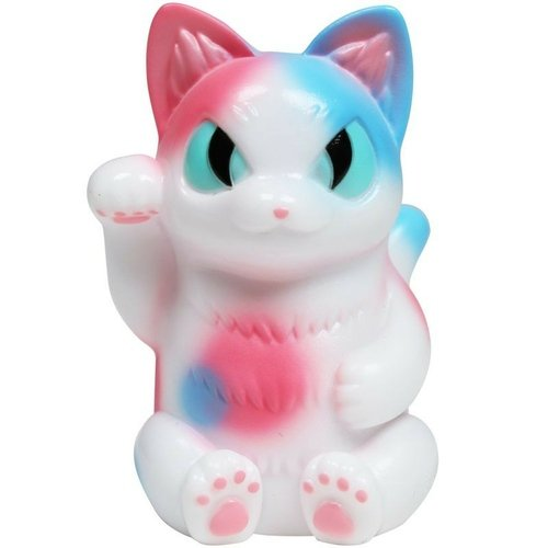 Lucky Negora - cotton candy figure by Konatsu, produced by Konatsuya. Front view.