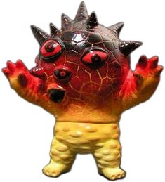 Magma Eyezon figure by Monsterforge. Front view.