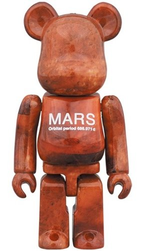 MARS BE@RBRICK 100% figure, produced by Medicom Toy. Front view.