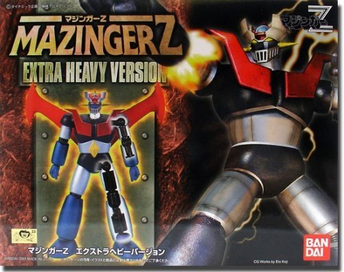 Mazinger Z Extra Heavy Version figure, produced by Bandai. Front view.