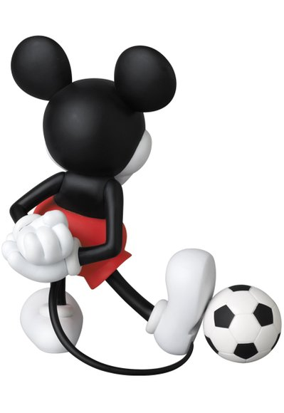 mickey mouse vcd football figure by disney sophnet produced by medicom toy back