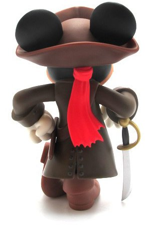 Mickey Mouse Jack  Sparrow Ver. 2.0 - VCD No.185 figure by Disney X Roen, produced by Medicom Toy. Back view.