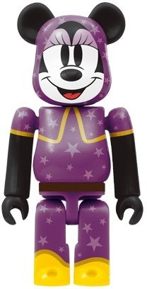 Minnie Mouse Be@rbrick 100% - Witch Ver. figure by Disney, produced by Medicom Toy. Front view.