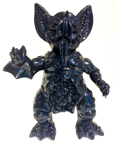 Mockbat - Black lucky bag figure by Paul Kaiju, produced by Self Produced. Front view.