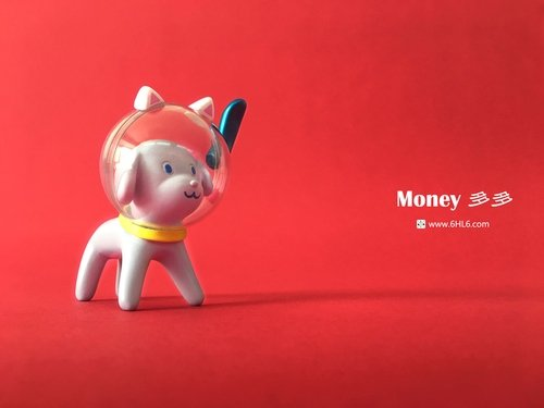 Money duo duo figure by Han Ning, produced by 6Hl6. Front view.
