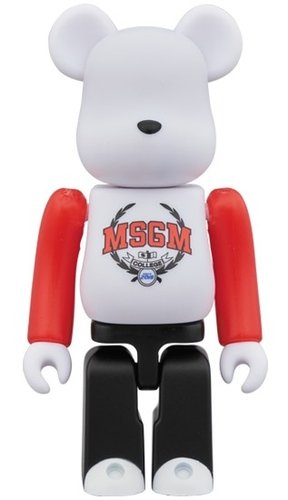 MSGM COLLEGE BE@RBRICK 100% figure, produced by Medicom Toy. Front view.