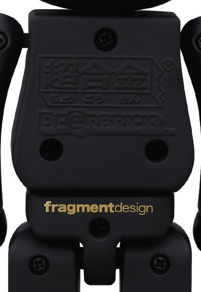 Fragmentdesign Be@rbrick 200% figure by Fragmentdesign, produced by Medicom Toy X Bandai. Detail view.