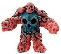 Multiskull figure by Monsterforge, produced by October Toys. Front view.