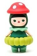 Mushroom Baby figure by Pucky, produced by Pop Mart. Front view.
