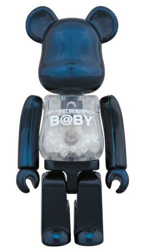 MY FIRST Pearl Navy Ver. BE@RBRICK figure, produced by Medicom Toy. Front view.