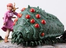 Nausicaa & Ohm figure, produced by Bandai. Front view.