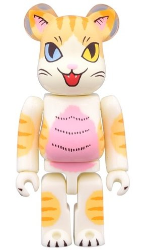Negola Oddiye BE@RBRICK 100% figure, produced by Medicom Toy. Front view.