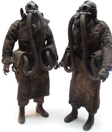 N.O.M. Commanders - Thrice Naut and Post Fire figure by Ashley Wood, produced by Threea. Front view.