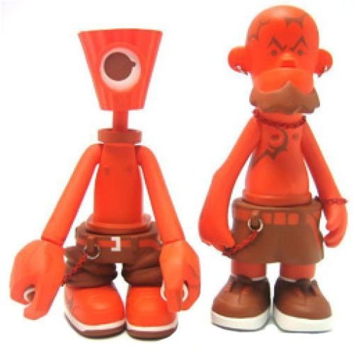 NY Fat Crylon & Tattoo Orange Set figure by Michael Lau, produced by Crazysmiles. Front view.