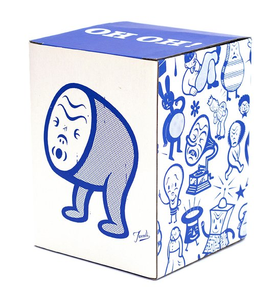 OH OH figure by Gary Taxali, produced by Chump Toys. Packaging.