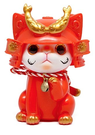 Ohonneko: Dharma Edition figure by Katherine Kang, produced by K2Toy. Front view.