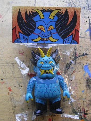 Ojo Rojo - Devilman figure by Martin Ontiveros, produced by Gargamel. Packaging.