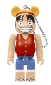 ONE PIECE Vol.2 BE@RBRICK 100% figure, produced by Medicom Toy. Front view.