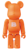 ORANGE LETTER - BASIC SERIES 39 - BE@RBRICK 100%