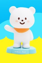 Ordinary Bear figure by Fluffy House, produced by Fluffy House. Front view.