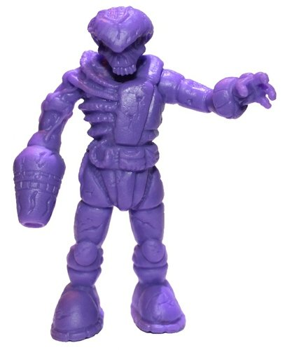 OTMFG Purple Zombie Pheyden figure by Matt Doughty And L'Amour Supreme, produced by October Toys. Front view.
