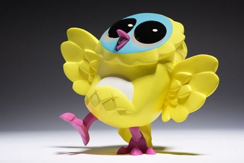 OUTBURST LOOP (LEMON) – ROTOFUGI EXCLUSIVE figure by Mark Landwehr / Sven Waschk, produced by Coarsetoys. Front view.