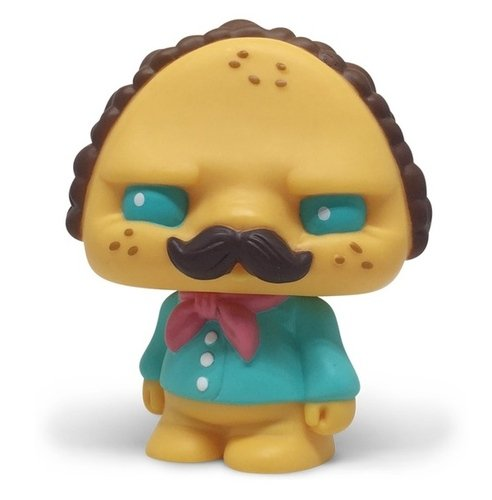 Paco Taco  -Hipster Taco figure by Scott Tolleson, produced by Pobber. Front view.