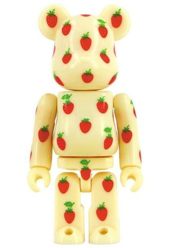 Pattern - strawberry figure, produced by Medicom Toy. Front view.