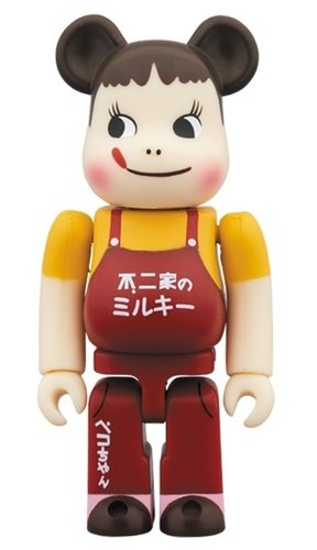 Peco-chan & Poco-chan Vintage Edition BE@RBRICK 100% figure, produced by Medicom Toy. Front view.