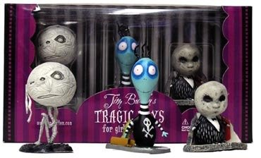 Jimmy, The Hideous Penguin Boy figure by Tim Burton, produced by Dark Horse. Packaging.