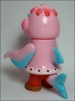 Dolly the Dolphin - Valentines Dolly figure by Bwana Spoons, produced by Gargamel. Back view.