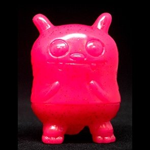 Pink Glitter Jeero figure by David Horvath, produced by Toy Art Gallery. Front view.