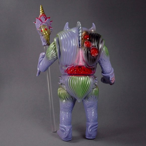 Pollen Kaiser Lavender figure by Paul Kaiju, produced by Toy Art Gallery. Back view.