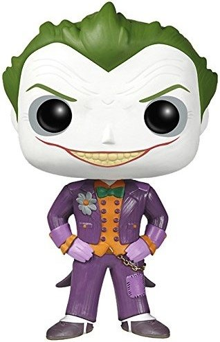 POP! Arkham Asylum - The Joker figure by Dc Comics, produced by Funko. Front view.