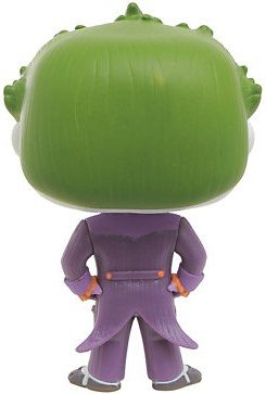 POP! Arkham Asylum - The Joker figure by Dc Comics, produced by Funko. Back view.
