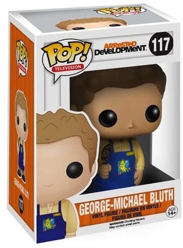 POP! Arrested Development - George-Michael Bluth figure by Funko, produced by Funko. Packaging.