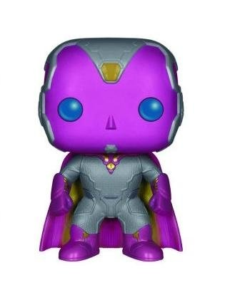 POP! Avengers Age of Ultron - Vision figure by Marvel, produced by Funko. Front view.