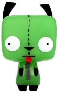 POP! Invader Zim - GID Gir figure, produced by Funko. Front view.