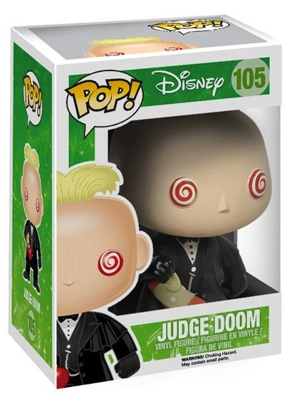POP! Who Framed Roger Rabbit - Judge Doom figure by Disney, produced by Funko. Packaging.