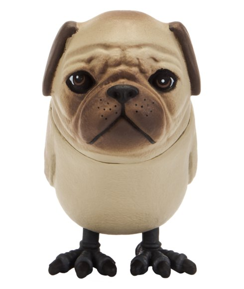 Pugbird  Dogbird figure, produced by Third Stage. Front view.