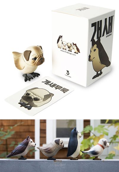 Pugbird  Dogbird figure, produced by Third Stage. Packaging.